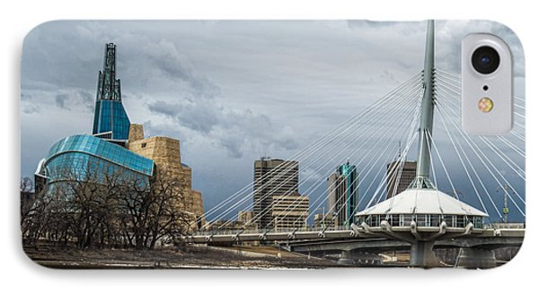 Red River At Winnipeg IPhone Case
