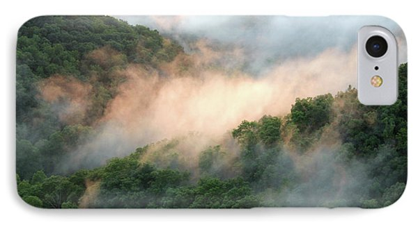 Red River Gorge Kentucky Fog In Mountains At Sunset After A Storm IPhone Case
