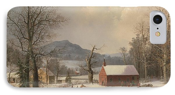 Red School House IPhone Case