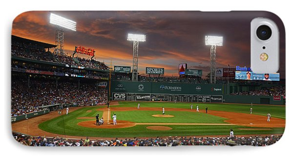 Red Sky Over Fenway Park IPhone Case