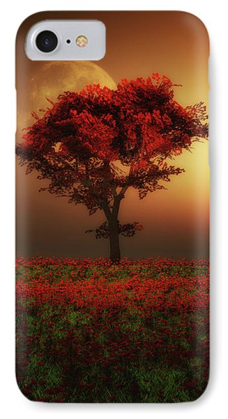 Red Tree In The Evening IPhone Case