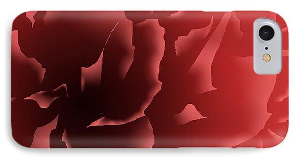 Red Velvet Peony IPhone Case