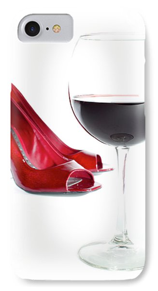 Red Wine Glass Red Shoes IPhone Case