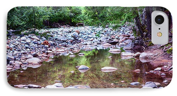 Reflecting Wilderness And Rocky Shorelines Landscape Artwork By  IPhone Case
