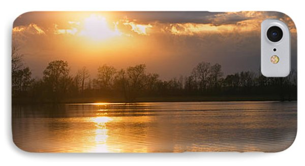 Reflection Of Sun In Water, West IPhone Case