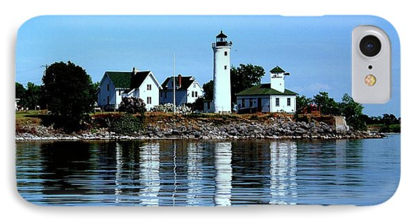 Reflections At Tibbetts Point Lighthouse IPhone Case