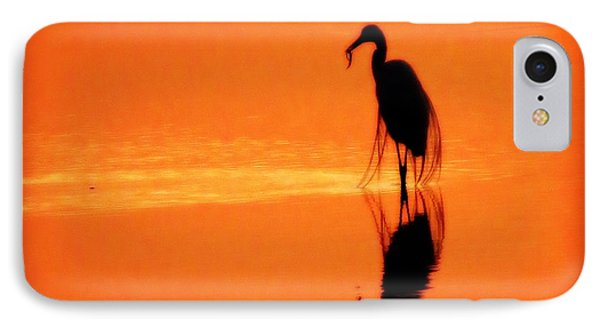 Reflections Of A Heron IPhone Case