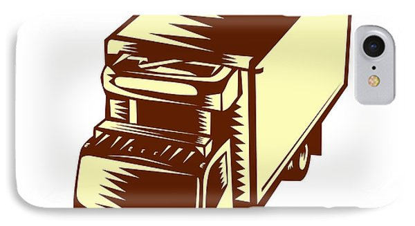 Refrigerated Truck Woodcut IPhone Case