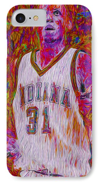 Reggie Miller Nba Basketball Indiana Pacers Painted Digitally IPhone Case