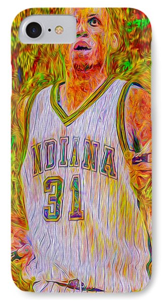 Reggie Miller Nba Indiana Pacers Basketball Digitally Painted IPhone Case