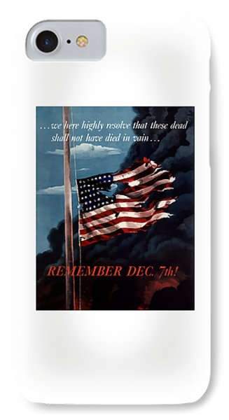 Remember December Seventh IPhone Case