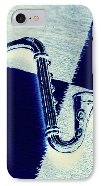 Trumpet iPhone 8 Case - Retro Blues by Jorgo Photography - Wall Art Gallery