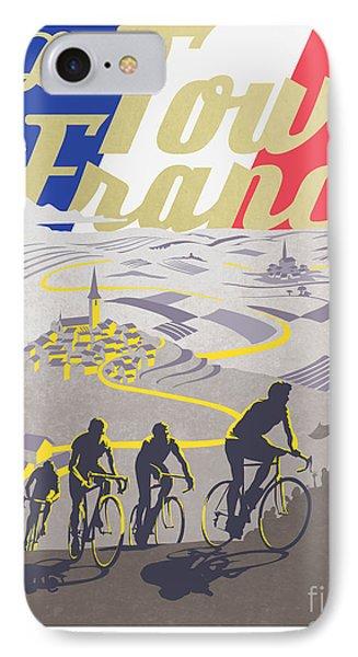 Retro Tour De France IPhone Case