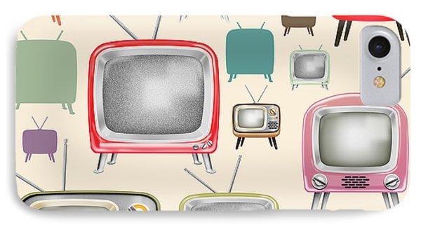 retro TV pattern  IPhone Case