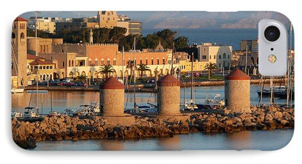 Rhodes Harbour 1 IPhone Case