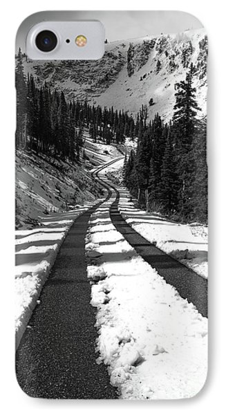 Ribbon To The Unknown Monochrome Art By Kaylyn Franks IPhone Case