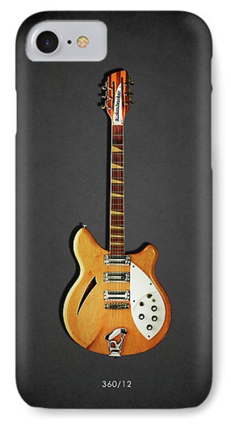 Rock And Roll iPhone 8 Case - Rickenbacker 360 12 1964 by Mark Rogan