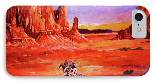 Riders In The Valley Of The Giants IPhone Case