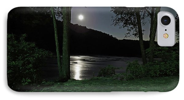River In Moonlight IPhone Case