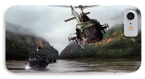 Helicopter iPhone 8 Case - River Patrol by Peter Chilelli