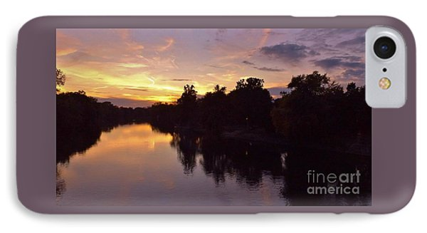 River Sunset      October   Indiana IPhone Case