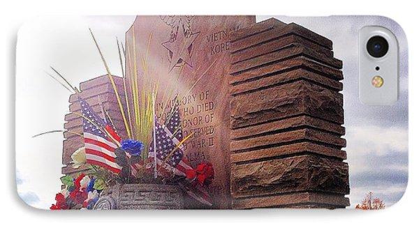 Riverside Cemetery War Memorial IPhone Case