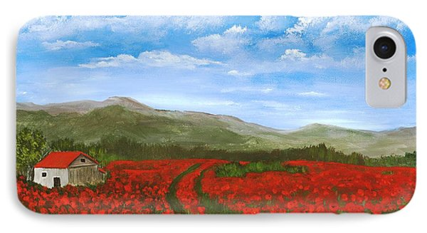 Road Through The Poppy Field IPhone Case