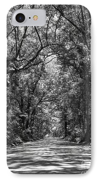 Road To Angel Oak Grayscale IPhone Case