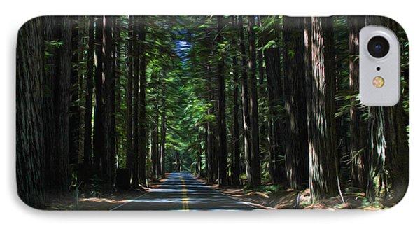 Road To Mendocino IPhone Case