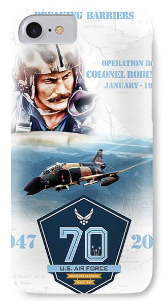 Tribute iPhone 8 Case - Robin Olds Breaking Barriers by Peter Chilelli