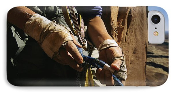 Rock Climber Becky Halls Wrapped Hands IPhone Case