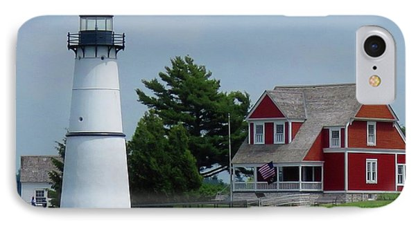 Rock Island Lighthouse July IPhone Case