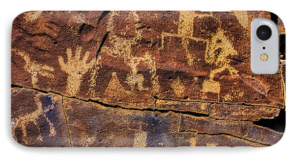 Rock Wall Of Petroglyphs IPhone Case