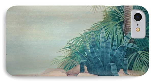 Rocks And Palm Tree IPhone Case