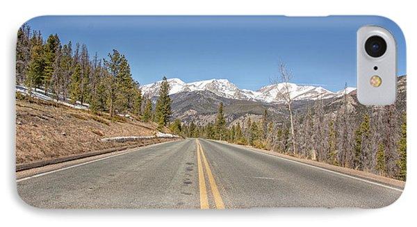 Rocky Mountain Road Heading Towards Estes Park, Co IPhone Case