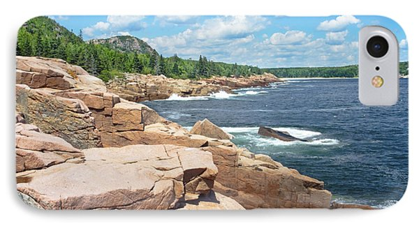 Rocky Summer Seascape Acadia National Park Photograph IPhone Case
