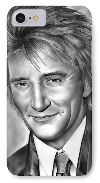 Rock And Roll iPhone 8 Case - Rod Stewart by Greg Joens