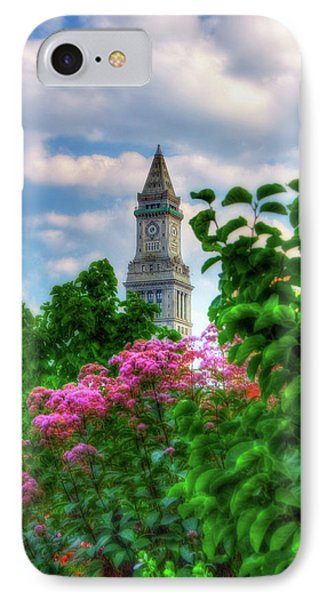 IPhone Case featuring the photograph Rose Kennedy Greenway And Marriott Custom House - Boston by Joann Vitali