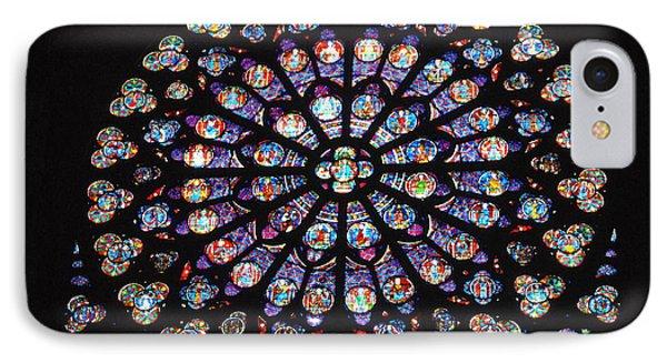 Rose Window Of Notre Dame Paris IPhone Case