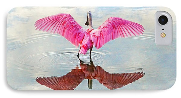 Roseate Spoonbill Pink Angel IPhone Case