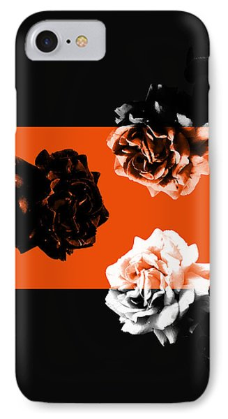 Roses Interact With Orange IPhone Case
