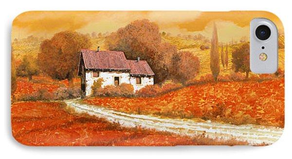 Landscape iPhone 8 Case - Rosso Papavero by Guido Borelli