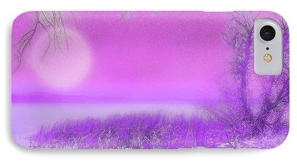 Rosy Hued Moonlit Lake - Boulder County Colorado IPhone Case