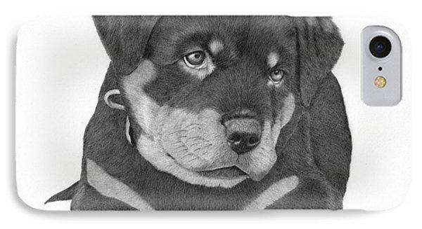 Rottweiler Puppy IPhone Case