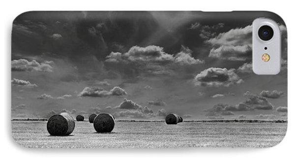 Round Straw Bales Landscape IPhone Case