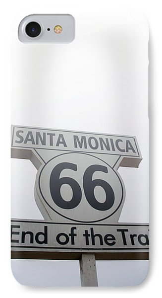 Route 66 Santa Monica- By Linda Woods IPhone Case