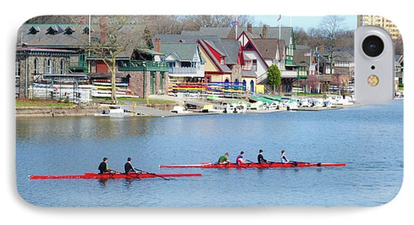 Rowing Along The Schuylkill River IPhone Case
