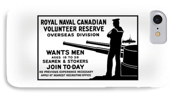 Royal Naval Canadian Volunteer Reserve IPhone Case