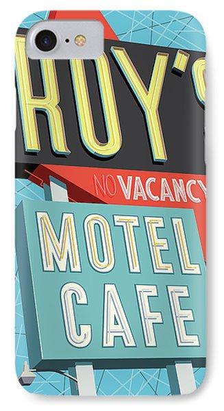 Roy's Motel Cafe Pop Art IPhone Case