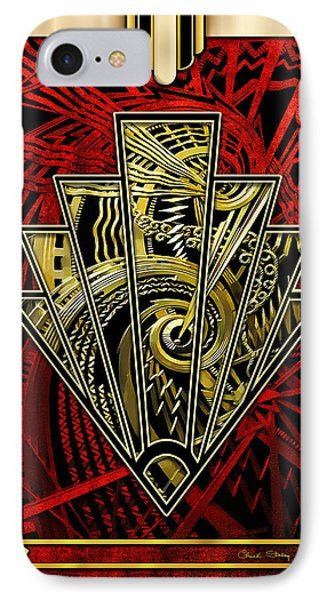 IPhone Case featuring the digital art Ruby Red And Gold by Chuck Staley